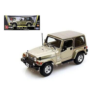 Bburago Jeep Wrangler Sahara Khaki 1-18 Diecast Car Model (DTDP290)