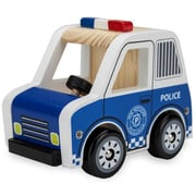 BrybellyHoldings Wooden Wheels Natural Beech Wood Police Cruiser (BRYBL3746)
