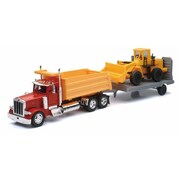 New-Ray Toys 1 - 32 Peterbilt 379 Dump Truck with Construction Tractor - Pack of 6 (NWRT058)