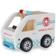 BrybellyHoldings Wooden Wheels Natural Beech Wood Ambulance (BRYBL3742)