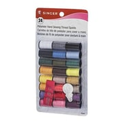 Merchandise Singer Thread Assorted Clear with Needle, 24 Spools (MCDS21863)