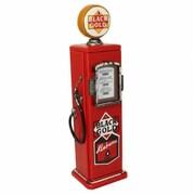EcWorld Enterprises Hand-Painted Black Gold Fuel Company Gasoline Pump Multimedia Cd Storage Cabinet (RTL355719)