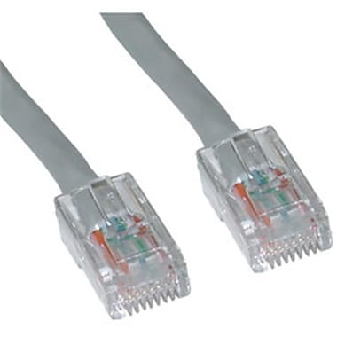 CableWholesale Cat6 Gray Ethernet Patch Cable Bootless 7 foot (CBLW576)