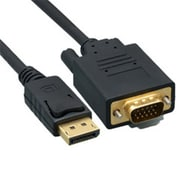 Cable Wholesale DisplayPort to VGA Video cable, DisplayPort Male to VGA Male, 10 foot (RTL51724)