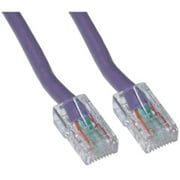 CableWholesale Cat5e Purple Ethernet Patch Cable Bootless 25 foot (CBLW541)