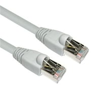 CableWholesale Shielded Cat6a Gray Ethernet Patch Cable Snagless Molded Boot 500 MHz 75 foot (CBLW859)