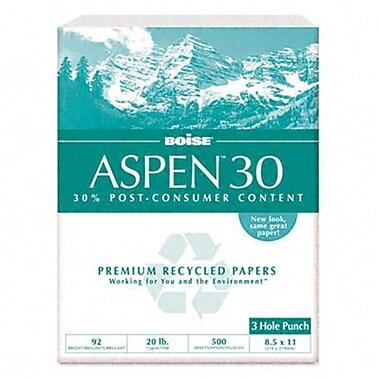Boise Aspen 30 Recycled Copy Paper 3-Hole 92 Brightness 20lb Letter 5 000 Sheets (AZRCAS054901P)