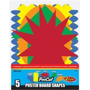 Bazic Products BAZIC 5 Pre Cut Poster Board Shapes, Case of 48 (BAZC1778) by