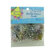 Bulk Buys Sparkle Button Flower Beads pack of 60 Case Of 24 (DLRDY095136)