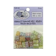 Bulk Buys Sparkle Diamond Rectangle Beads pack of 50 Case Of 24 (DLRDY095135)
