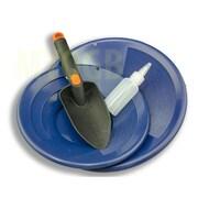 Make Your Own Gold Bars Gold Panning Kit Blue Pans Bottle Snuffer & Scoop-Mining Prospecting, 10 & 12 in. (MKYG027)