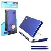 KMD DSi Aluminum Armor Case & Dual Stylus Set, Aqua Blue (INNX005)
