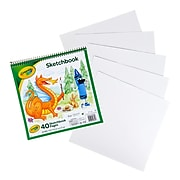 "Crayola Spiral Bound Sketchbook, 9"" X 9"", 40 Sheets (99-3404)"