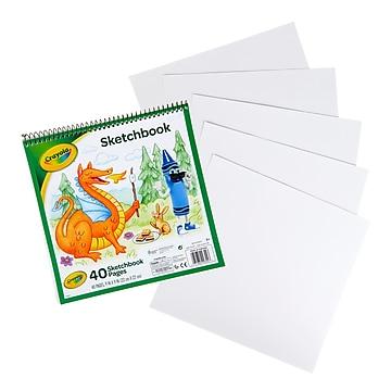 """Crayola Spiral Bound Sketchbook, 9"""" X 9"""", 40 Sheets (99-3404)"""