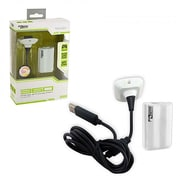 KMD Xbox 360 Charge & Play Pack, White (INNX1734)