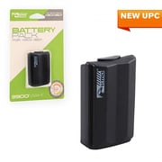 KMD Xbox 360 Rechargeable Stylized Battery Pack, Black (INNX1725)