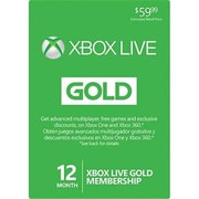 XBox Live Cards Microsoft Live 12 Months Xbox Videogame (DAHD19282)