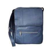 Piel Leather Mens Vertical Leather Laptop Bag, Gray (PIEL1998)