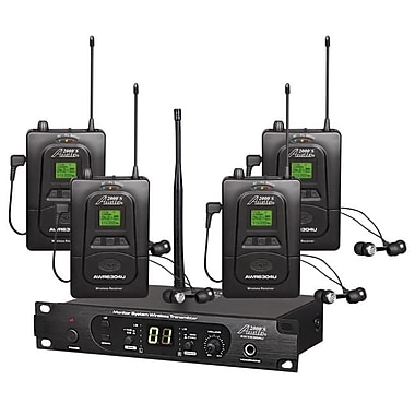 Audio2000S UHF Wireless in-Ear Monitoring System with One Transmitter & Four Receivers (H&F276)