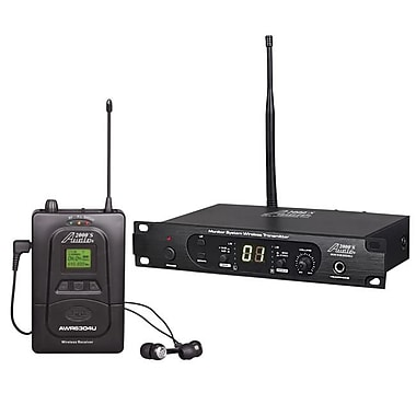Audio2000S 100 Adjustable Frequencies, Professional UHF Wireless In-Ear Monitoring System (H&F211)