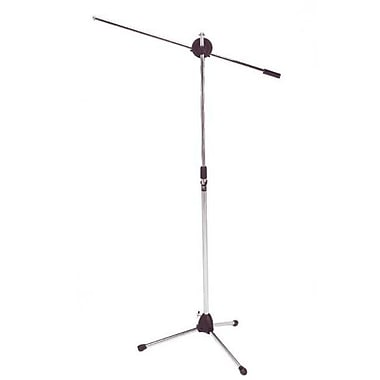 Audio2000s Floor Tripod Microphone Stand with Boom - Chrome (AUDIO179)