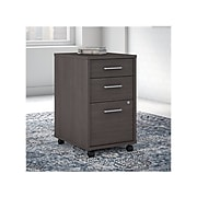 """Office by kathy ireland® Method 3-Drawer Vertical File Cabinet, Locking, Letter/Legal, Storm Gray, 19.76"""" (KI70403SU)"""