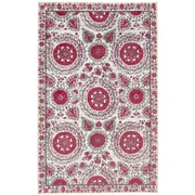 Mohawk Home Strata Suzani Sophisticate Hot Pink Rug (797786017963)