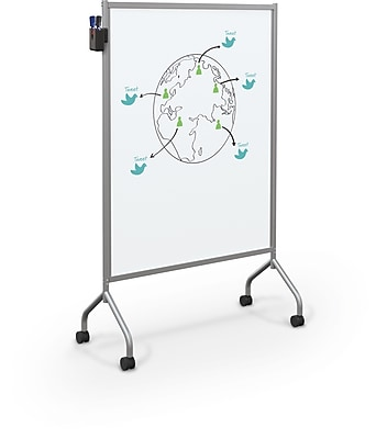 Balt Essentials Mobile Whiteboard Divider Easel, Platinum, 71.75