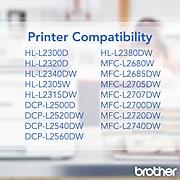 Brother TN-660 Black Toner Cartridge, High Yield