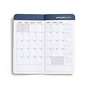 """2020 Small Monthly Planner, 3"""" x 6"""", Navy (56707-20)"""