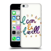 Official Pom Graphic Design Typography I Can And I Will Hard Back Case For Apple Iphone 5C