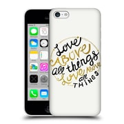 Official Pom Graphic Design Typography Love Above All Things Hard Back Case For Apple Iphone 5C