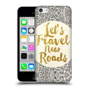 Official Pom Graphic Design Typography Let'S Travel New Roads Hard Back Case For Apple Iphone 5C