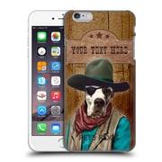 Custom Customised Personalised Pets Rock Custom Case Cowboy Hard Back Case For Apple Iphone 6 Plus / 6S Plus
