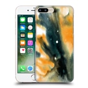 """Official Julien """"Corsac"""" Missaire Abstract Marbled Milk Black Orange Hard Back Case For Apple Iphone 7 Plus"""