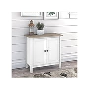 """Bush Furniture Mayfield 30"""" Storage Cabinet with 2 Shelves, Pure White/Shiplap Gray (MAS131GW2-03)"""