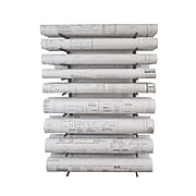 "Brookside Design Vis-i-Rack 44""H High Capacity Blueprint Storage, Textured Black (VRW85)"
