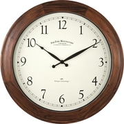"FirsTime 16"" Walnut Garrison Wall Clock (50068)"
