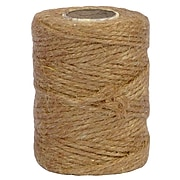 JAM Paper® Kraft Twine, 1/8 Inch x 73 Yards, Natural Brown, Sold Individually (6785142)