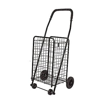 DMI 36  x 15  Metal & Steel Folding Shopping Cart, Holds up to 90 lbs, Black (640-8213-0200)