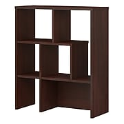 "Office by kathy ireland® Centura Bookcase Hutch 4-Shelf 35""H, Century Walnut (CRB130CW)"