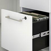 "Bush Business Furniture 400 Series 3-Drawer Vertical File Cabinet, Locking, Letter/Legal, White, 20.16"" (400SMP3BBFWH)"