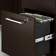 "Bush Business Furniture 400 Series 3-Drawer Vertical File Cabinet, Locking, Letter/Legal, Mocha Cherry, 20.16"" (400SMP3BBFMR)"