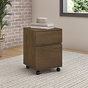 Bush Furniture Anthropology 2 Drawer Mobile File Cabinet, Rustic Brown Embossed (ATH011RB)