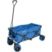 "Creative Outdoor Distributor 23"" Folding Wagon, Canvas Fabric/Steel Frame, Blue (900285)"