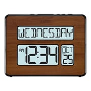 "La Crosse Technology Backlight Atomic Calendar 7.5"" H Walnut Large Digital Clock(513-1419BL-WA-INT)"