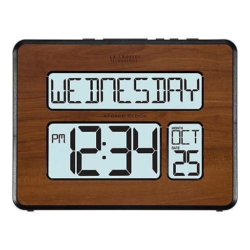 La crosse technology backlight atomic calendar 75 h walnut large httpsstaples 3ps7is gumiabroncs Choice Image
