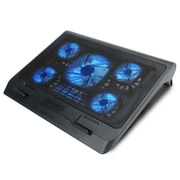 ENHANCE XL Gaming Laptop Cooler Pad with 5 Oversized LED Fans for Max Cooling , Adjustable Viewing Stand (4333482)