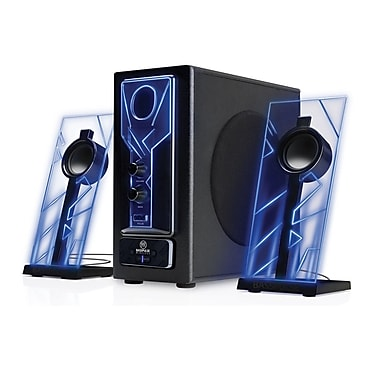 GOgroove BassPULSE Bluetooth 2.1 Speakers with Subwoofer , Blue LED Lights and 33-foot range