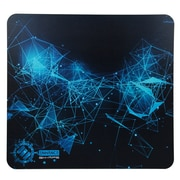 ENHANCE Extended Gaming Mouse Pad w/ Hard ABS Plastic Tracking Surface, Non-Slip Rubber, Black and Blue Design (ENGXMP5100BKEW)